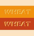 logo a wheat on orange background - emblem vector image vector image