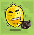 lol lots of laughs with laughing lemon funny vector image vector image
