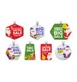 new year sale tags colorful shopping vector image