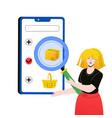 online shopping - modern colorful flat design vector image