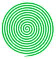 optical helix anaglyph opt art vector image