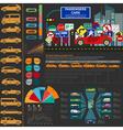 Passenger car transportation infographics vector image vector image