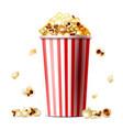 popcorn bucket realistic vector image