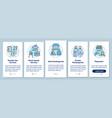 preschool center types onboarding mobile app page vector image