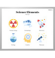 science elements flat vector image