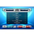 scoreboard game design vector image vector image