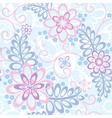 Seamless floral background with forget-me-not vector image vector image