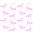 seamless pattern flat hand drawn unicorn vector image vector image