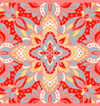 seamless pattern with arabesques in retro style vector image