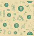 seamless pattern with microscopes germs and vector image