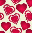 Seamless texture Hearts of various shapes vector image vector image
