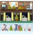 set of banners with home restaurant vector image vector image
