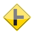 side road sign vector image vector image