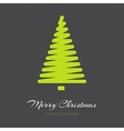 Simple green Christmas tree in outlines vector image vector image
