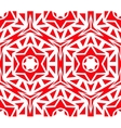 Solid Geometric Red Rose Pattern vector image