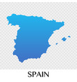spain map in europe continent design vector image