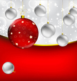 Stylish Christmas baubles background vector image