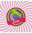 Sweet Cake with Berry Menu Background vector image vector image