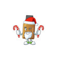 syrup cure bottle humble santa cartoon character vector image vector image