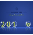 Transparent rolling glass balls on blue background vector image
