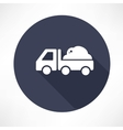 truck with the ground icon vector image
