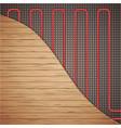 underfloor heating system vector image