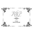 wedding card roses vector image vector image