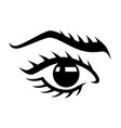 womans eye logo design vector image