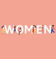 women unity female friendship or sisterhood vector image vector image