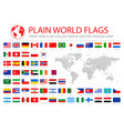 world flags graphics with world map vector image vector image