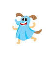 dog puppy character in a ghost halloween outfit vector image