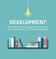 Flat design concept for development Books on the vector image