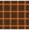 Tartan brown seamless pattern vector image