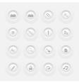 Button Office Icon Set Web design Menu template vector image