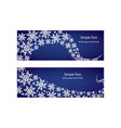 winter snow banner vector image