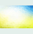 abstract blue yellow triangles background vector image vector image