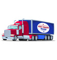 american semi truck with isothermal semi vector image