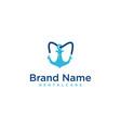 anchor dental logo icon design template vector image vector image