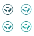 assembly sticker full moon and bats on a white vector image vector image