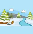 background scene winter snow vector image