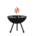 barbecue icon flat design on a white background vector image vector image
