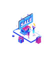 big sale - modern colorful isometric vector image vector image