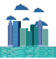 buildings city skyline image vector image vector image