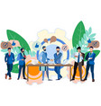business idea negotiation contract signing vector image