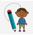 child cartoon pencil icon vector image