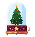 christmas music box design vector image