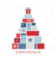 christmas tree design composed gift packs vector image vector image