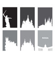 collection of gray touristic posters with white vector image vector image