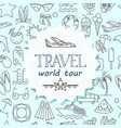 colorful time to travel banner vector image vector image