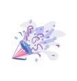 colourful confetti and serpentine vector image
